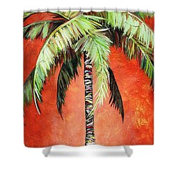 Cinnamon Palm Shower Curtain