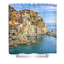 Cinque Terre Shower Curtain by Brent Durken