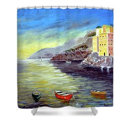 Cinque Terre Dreams Shower Curtain