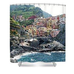 Cinque Terre Manarola Shower Curtain by Marilyn Dunlap
