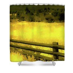 Ciquique Pueblo Meadow 2 Shower Curtain
