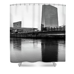 Shower Curtain featuring the photograph Cira Centre - Philadelphia Urban Photography by David Sutton