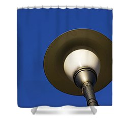 Shower Curtain featuring the photograph Circle And Blues by Prakash Ghai