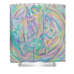 Circle Dance Shower Curtain