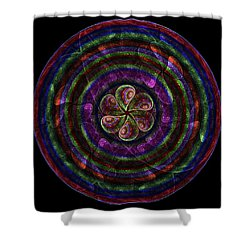 Shower Curtain featuring the digital art Circle Flower by Angie Tirado