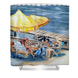 Circle Of Friends Shower Curtain by Donna Tuten