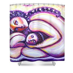 Shower Curtain featuring the painting Circle Of Love by Anya Heller