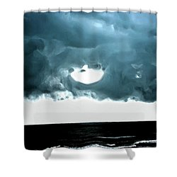 Circle Of Storm Clouds Shower Curtain