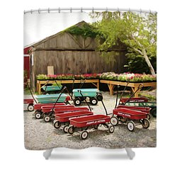 Circle The Wagons Shower Curtain