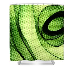 Circles In Green Shower Curtain