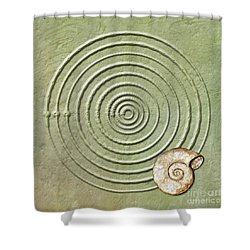 Circles And Spiral Shower Curtain
