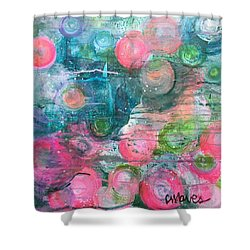 Shower Curtain featuring the painting Circles For San Marco  by Laurie Maves ART