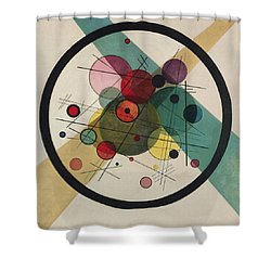 Circles In A Circle Shower Curtain by Wassily Kandinsky