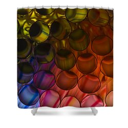 Circles In Color Shower Curtain