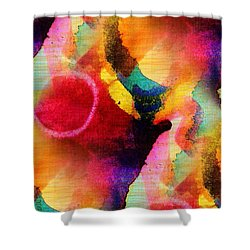 Circles Shower Curtain by Mimulux patricia no No
