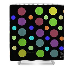 Circles N Dots C21 Shower Curtain