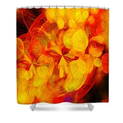 Shower Curtain featuring the digital art Fractals Bokeh And Spirographs   by Fine Art By Andrew David