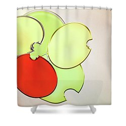 Circles Of Red, Yellow And Green Shower Curtain