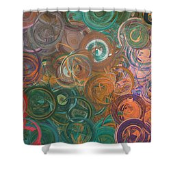 Shower Curtain featuring the digital art Circles  by Riana Van Staden