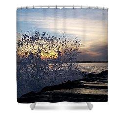 Circling Sunset Shower Curtain