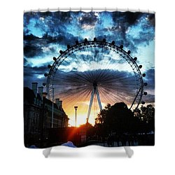 Circling The Sunset Shower Curtain
