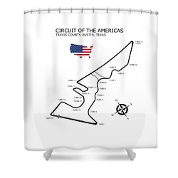 Circuit Of The Americas Shower Curtain by Mark Rogan