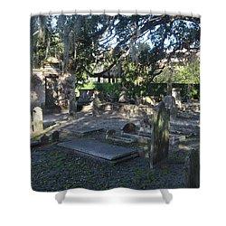 Circular Congregational Graveyard 1 Shower Curtain