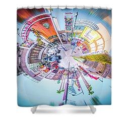 Circular Experience Shower Curtain by Mark Dunton