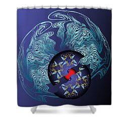 Shower Curtain featuring the digital art Circularium No 2636 by Alan Bennington
