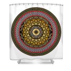 Shower Curtain featuring the digital art Circularium No. 2644 by Alan Bennington