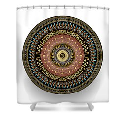 Shower Curtain featuring the digital art Circularium No 2645 by Alan Bennington