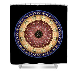 Shower Curtain featuring the digital art Circularium No 2646 by Alan Bennington