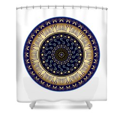 Shower Curtain featuring the digital art Circularium No 2648 by Alan Bennington