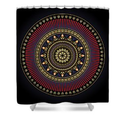 Shower Curtain featuring the digital art Circularium No 2649 by Alan Bennington