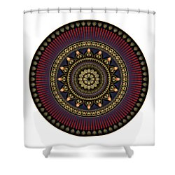 Shower Curtain featuring the digital art Circularium No 2650 by Alan Bennington