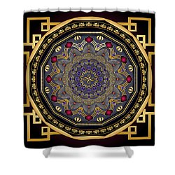Shower Curtain featuring the digital art Circularium No 2651 by Alan Bennington