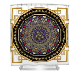 Shower Curtain featuring the digital art Circularium No 2652 by Alan Bennington