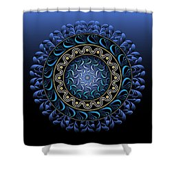 Shower Curtain featuring the digital art Circularium No 2656 by Alan Bennington