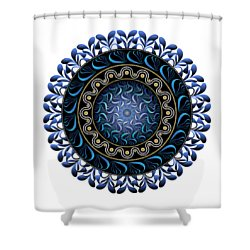 Shower Curtain featuring the digital art Circularium No 2657 by Alan Bennington