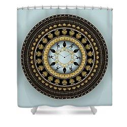 Circularium No 2658 Shower Curtain