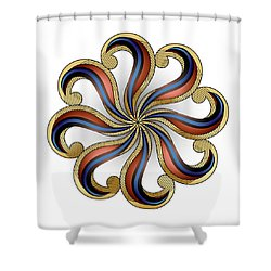 Circulosity No 2918 Shower Curtain
