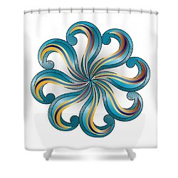 Circulosity No 2919 Shower Curtain
