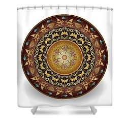 Circulosity No 3018 Shower Curtain