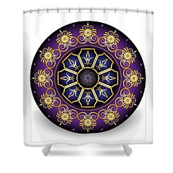 Circulosity No 3031 Shower Curtain