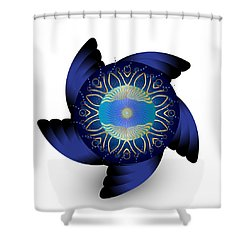 Circulosity No 3124 Shower Curtain