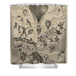 Circus Balloon Shower Curtain