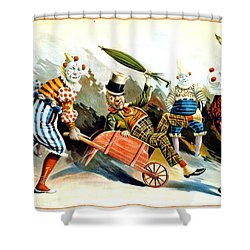 Circus Clowns - Vintage Circus Advertising Poster Shower Curtain