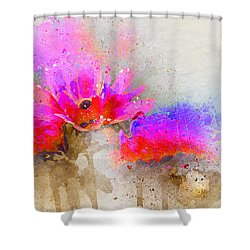 Circus Flowers Shower Curtain