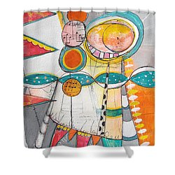 Circus One Shower Curtain by Karin Husty