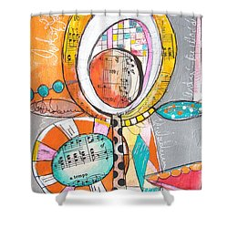 Circus Two Shower Curtain by Karin Husty